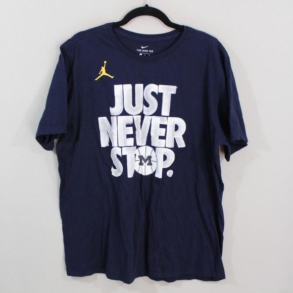 d3d8432da58 Nike Jordan Michigan Wolverines Basketball Shirt. M_5b02b8deb7f72b699c005968